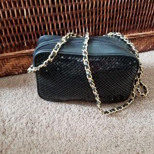Handbags - Whiting and Davis Leather & mesh Crossbody**NEW